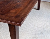 RESERVED FOR : Donna Tapered Leg Dining Table - Reclaimed wood - Custom Furniture