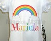 Personalized Rainbow Shirt or Bodysuit Size Preemie Newborn 3 mo  6 mo 9 mo 18 mo 24 mo 2t 3t 4t 5 6 8 10 12