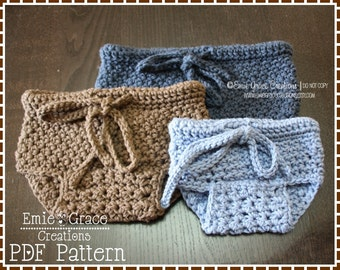 Diaper Cover Crochet Pattern, Textured Stitch, HAMILTON - pdf 715