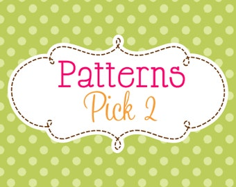 2 Crochet or Knitting Patterns Savings Pack, PDF Files, Sell Finished Items, Bundle Deal