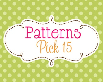 15 Crochet or Knitting Patterns Savings Pack, PDF Files, Permission to Sell Finished Items, Bundle Deal