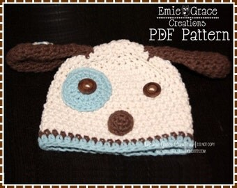Crochet Puppy Hat Pattern, 8 Sizes from Newborn to Adult, LOGAN and LOLA PUPPY - pdf 113