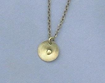 Antique Bronze Initial D Necklace