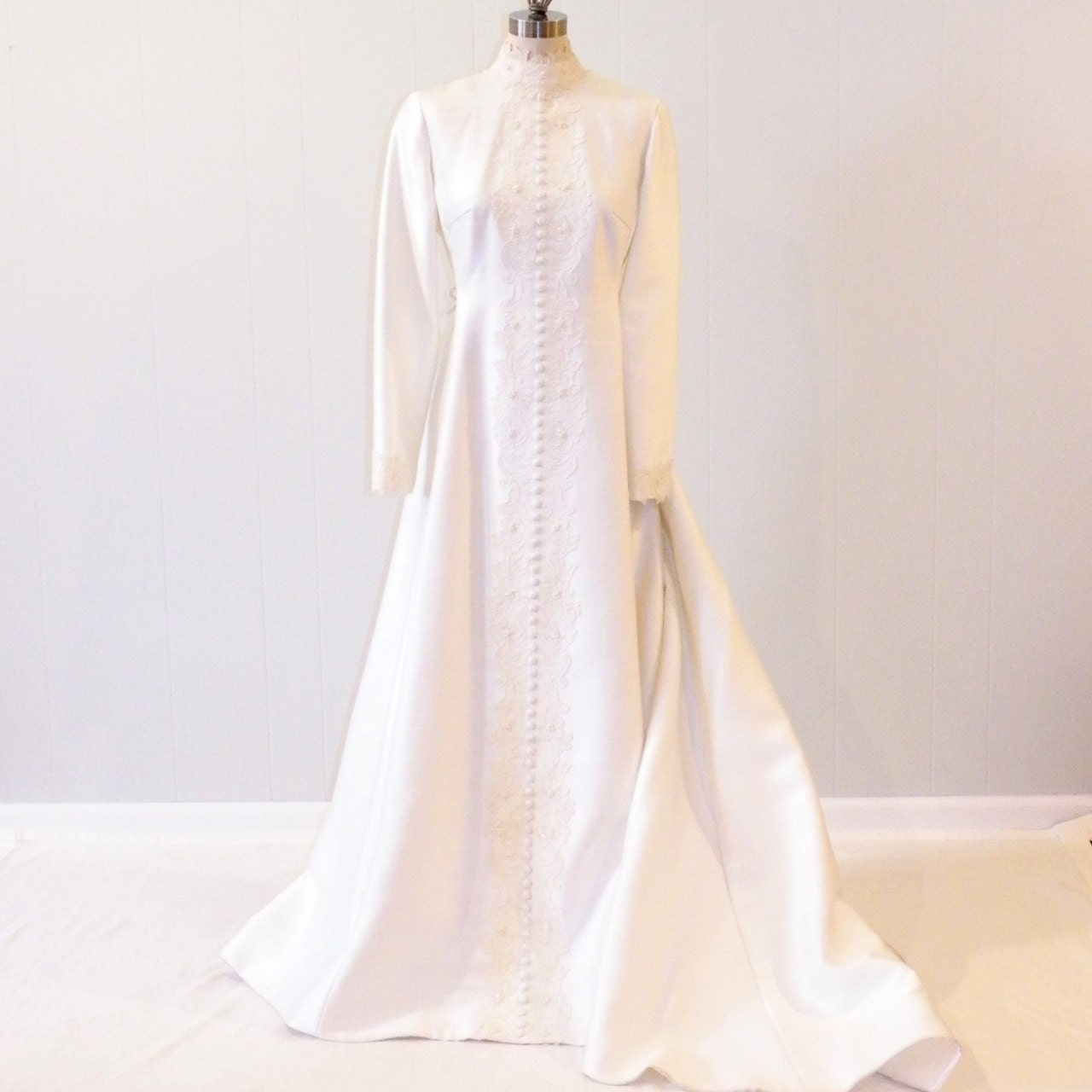 Vintage 60s Wedding Dress Bianchi Wedding Gown By