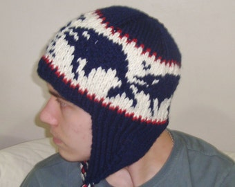 Fathers Day Gifts for Him, Humpback Whales Hat for Men - Custom Knit Father Gift, Hand Knit Hat, Fishing Man Gift for Him