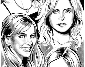 Buffy art by Benjamin Dewey.