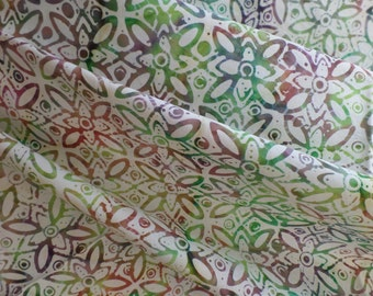 Batik Cotton Neutral Fabric from Indonesia by Anthology Fabrics Tile AF6151