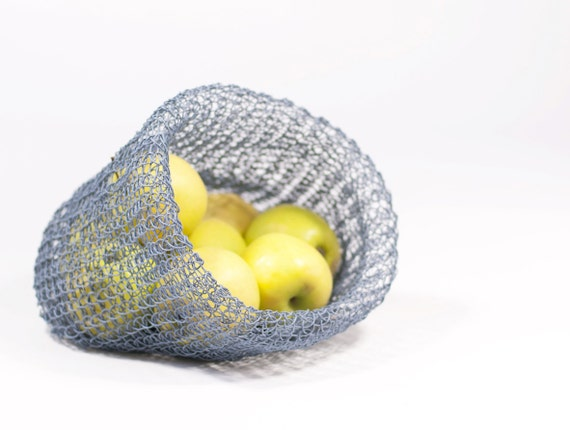 DIY Kit: Knit Baskets Big - Paper Twine - personalize and choose your colors - easy and fun - no knitting skills required