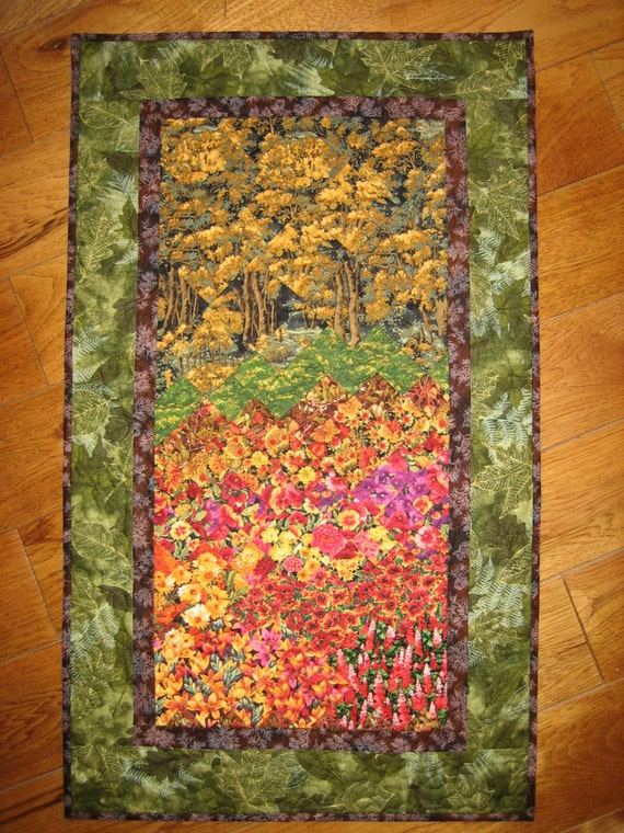 Art Quilt Fall Trees Wall Hanging