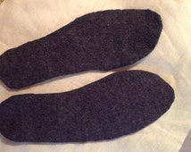Thick felted shoe insole inserts For men  young adults athletes large sized insole using Upcycled wool Sweater Best Insole for out doors