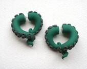 Kelp Monster Tentacle Earring - Octopus -Sea Monster -Kraken - Cthulhu- Fake Gauge