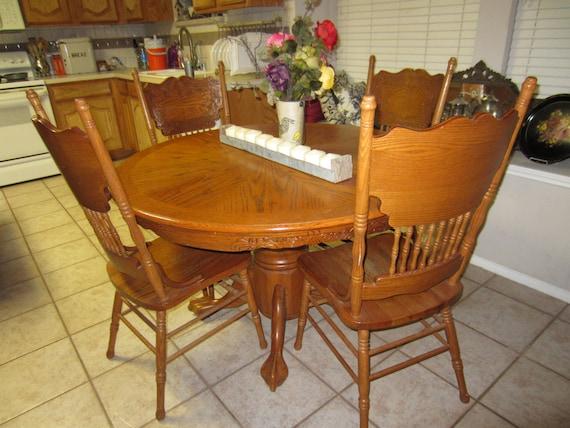 Claw Foot Oak Kitchen Table