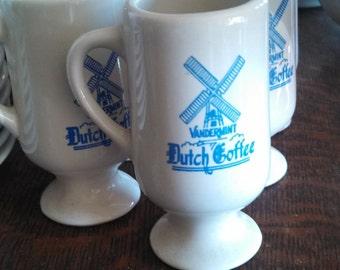 Set of 5 Dutch Vandermint Chocolate Liquor Coffee Cups