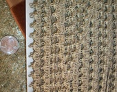 1 yard of an gorgeous platinum color real metal antique trim,  more avail.