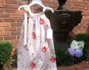 Cottage Chic Rose Dress in Pink  by Cheryl's Bowtique - 2015 Cottage Collection