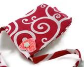 Bright pink messenger bag for girls