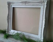 Antique Painted Frame, Large Frame, French country, Shabby and chic, Cottage chic, wall decor