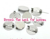 BIG Size - Brooch back with pad - 10 pcs - 25 mm diam