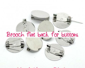 BIG Size - Brooch back with pad - 10 pcs - 25 mm diam