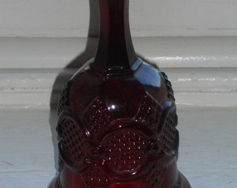 Vintage Avon Royal Ruby Red Cape Cod Glass By Avon-Crystal Dinner Bell