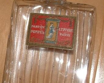 Vintage L T Piver Pompeia Parfum Bottle, Paris France