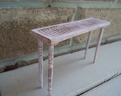 Miniature Dollhouse Garden Reclaimed Table Shabby Chic Shutter Farmhouse Style Rustic Pale Pink by AMarigoldLife
