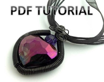 PDF Tutorial - How to Make a Coiled Wire Heart Pendant