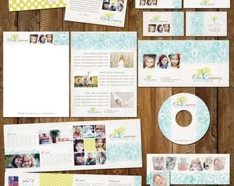 Boutique Marketing Package - Flower Pattern - Photography