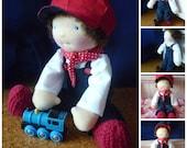 "Waldorf style boy doll, 13"" by Hippie House Dolls"