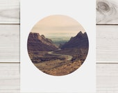 Southwest Desert Circular Format Photo-  Archival Print - Spotted Wolf Canyon, Utah