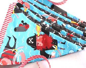 Fabric Pirate Bunting Banner