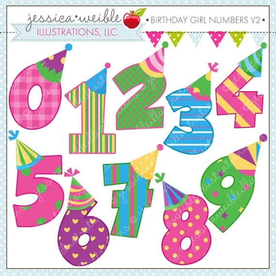 free clipart birthday numbers - photo #4