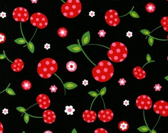 Pink Light Design from Picnic Party by Robert Kaufman Fabric 1 Yard Fabric Cherries