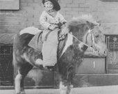 Vintage Photo of Little Cowboy