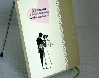 Wedding Card Handmade Bride and Groom Marriage Happiness on Special Day