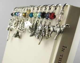 Personalized Bookmark - Unique Bookmark - Metal Bookmark - Charm Bookmark