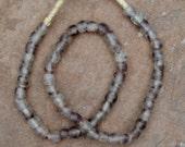 Ghana Glass Beads: Purple Cloud   (9mm)