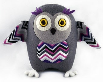 PDF sewing pattern and tutorial Owl Ola toy/pin cushion