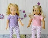 """Spring Doll Pajamas - 18"""" Doll"""