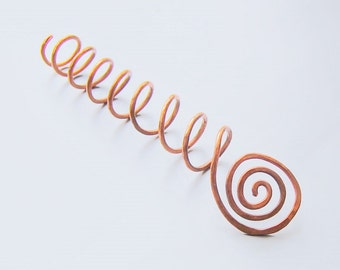 Copper hair screw for a bun or french twist hair stick coil hair tie brass hair screw