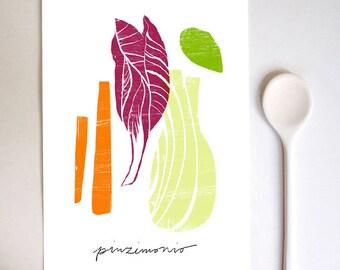 Pinzimonio Raw Vegetable Italy Art Print / high quality fine art print