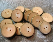 14 Magnolia Wood Tree Branch Buttons. Just Over 1.25 Inches Wide.