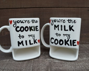 You're the Cookie to my Milk / You're the Tea to my Biscuit - One Ceramic Dunk Mug - Ready to Ship
