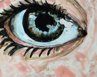 Watchful Eye wall Tile