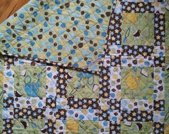 Patchwork Lap Quilt - Amelia's Tea Party