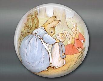 peter rabbit magnet, beatrix potter fridge magnet, cute bunny decor, large children's magnet, oversize magnet  MA-148