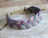 Surfer Sailor Style Hemp Bracelet Mixed Colors Natural Purple