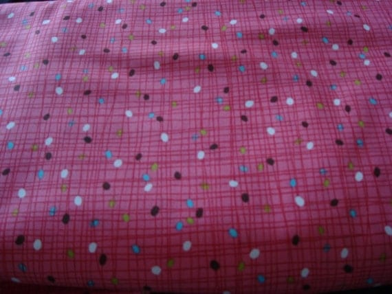 Farmdale Crosshatch Pink fabric by Alexander henry-1 Yd