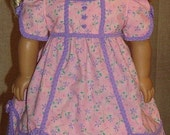 American Girl Doll Regency Gown And Pantalettes For Caroline Or Other 18-Inch Doll