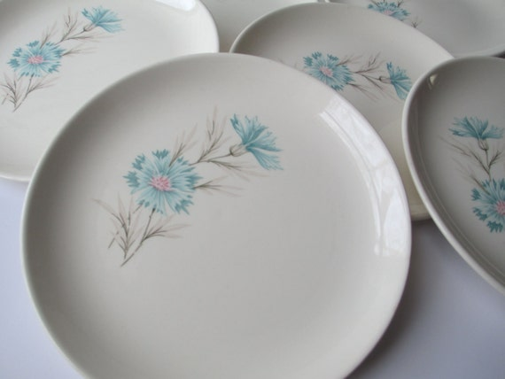 Vintage Taylor Smith Taylor Boutonniere Bread and Butter Plates Set of Six